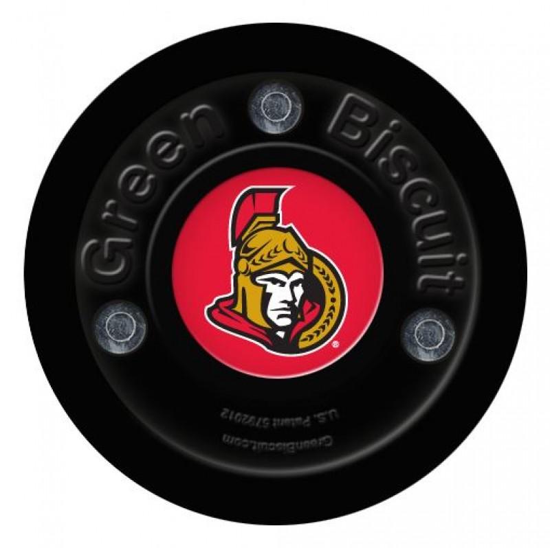 Green Biscuit Ottawa Senators Off Ice Training Hockey Puck
