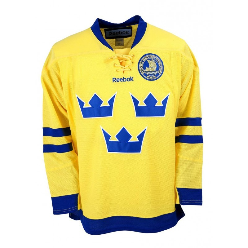 Reebok Team Sweden Junior Fan Jersey Away