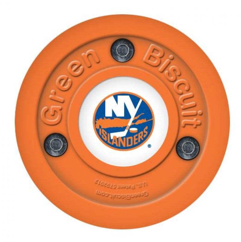 Green Biscuit New York Islanders Off Ice Training Hockey Puck