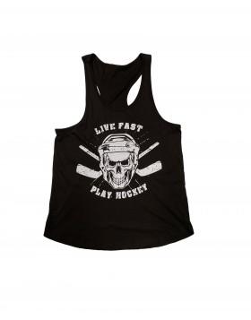 HOKEJAM.LV Live Fast Play Hockey Adult Tank Top
