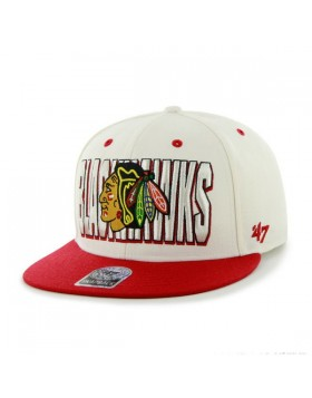 BRAND 47 Chicago Blackhawks Two Tone Hardball Snapback