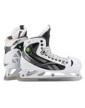 Reebok 16K White PUMP Senior Goalie Skates