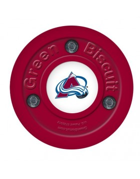Green Biscuit Colorado Avalanche Off Ice Training Hockey Puck