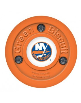 Green Biscuit New York Islanders Off Ice Training Hockey Puck
