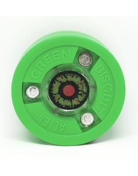 Green Biscuit Alien Off Ice Training Hockey Puck