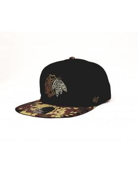 BRAND 47 Chicago Blackhawks Snapback Cap H/DRYTP04CTS/BKBL
