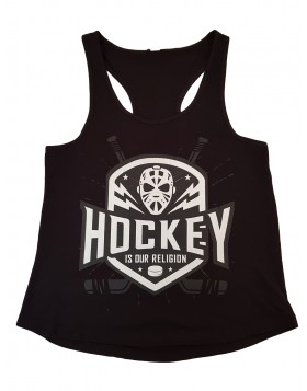 HOKEJAM.LV Hockey Is Our Religion Adult Tank Top