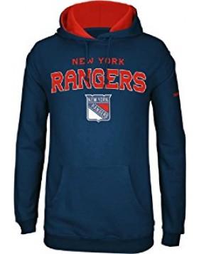 Reebok New York Rangers Adult Face Off Hooded Sweatshirt