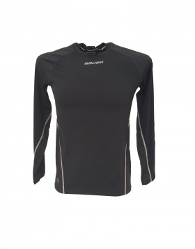 Bauer NG Premium Grip Crew LS Youth Compression Shirt