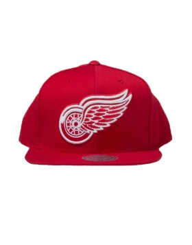 MITCHELL & NESS Detroit Red Wings Wool Solid Snapback NT80Z