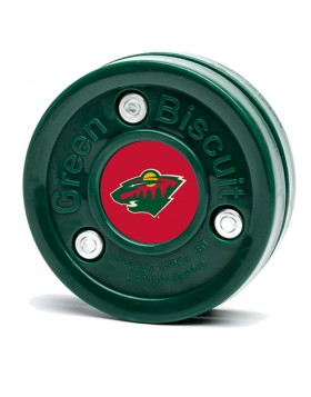 GREEN BISCUIT Minnesota Wild Off Ice Training Hockey Puck