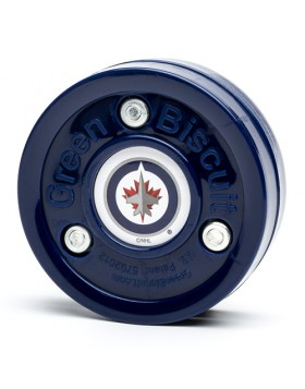 GREEN BISCUIT Winnipeg Jets Off Ice Training Hockey Puck
