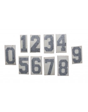 HOKEJAM.LV Helmet Number Sticker Black