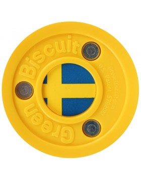 Green Biscuit Sweden Off Ice Training Hockey Puck