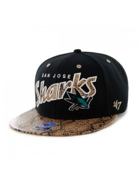 BRAND 47 San Jose Sharks King Cobra Snapback Cap