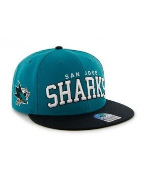 BRAND 47 San Jose Sharks Blockshed Snapback Cap