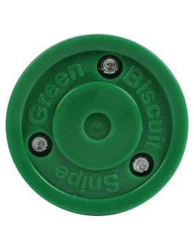 Green Biscuit Snipe Off Ice Training Hockey Puck