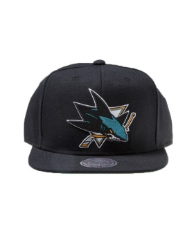 MITCHELL & NESS San Jose Sharks Wool Solid Snapback NT80Z