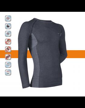 SIM LOC Orange Line Adult Thermo Long Sleeve Shirt
