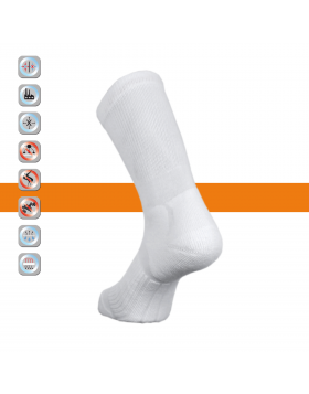 SIM LOC Orange Line Senior Ice Hockey Socks